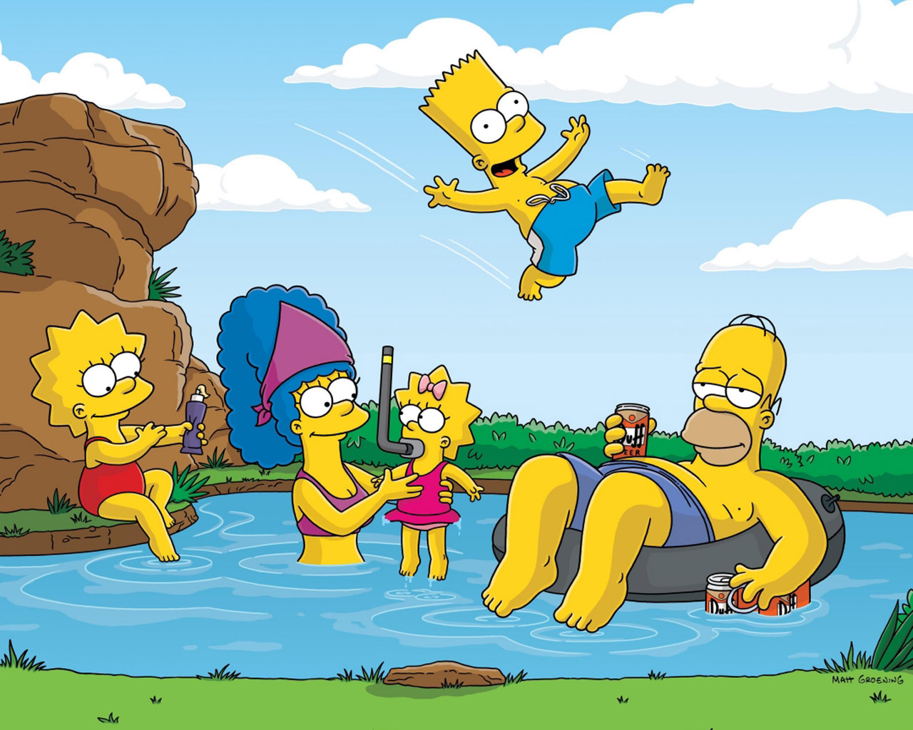 los-Simpson-en-la-playa
